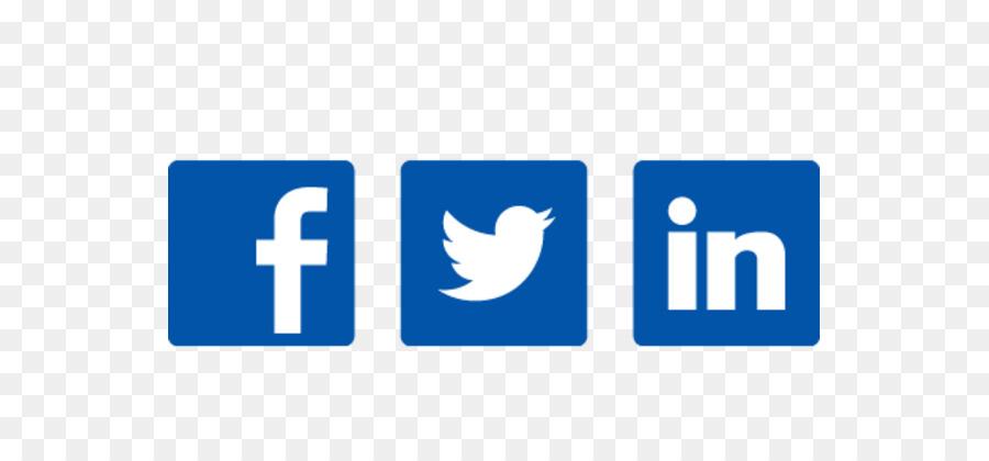 Twitter blue . Facebook clipart logo linkedin