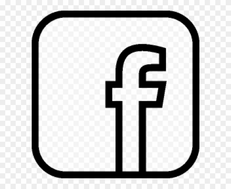F icon like us. Facebook clipart monochrome