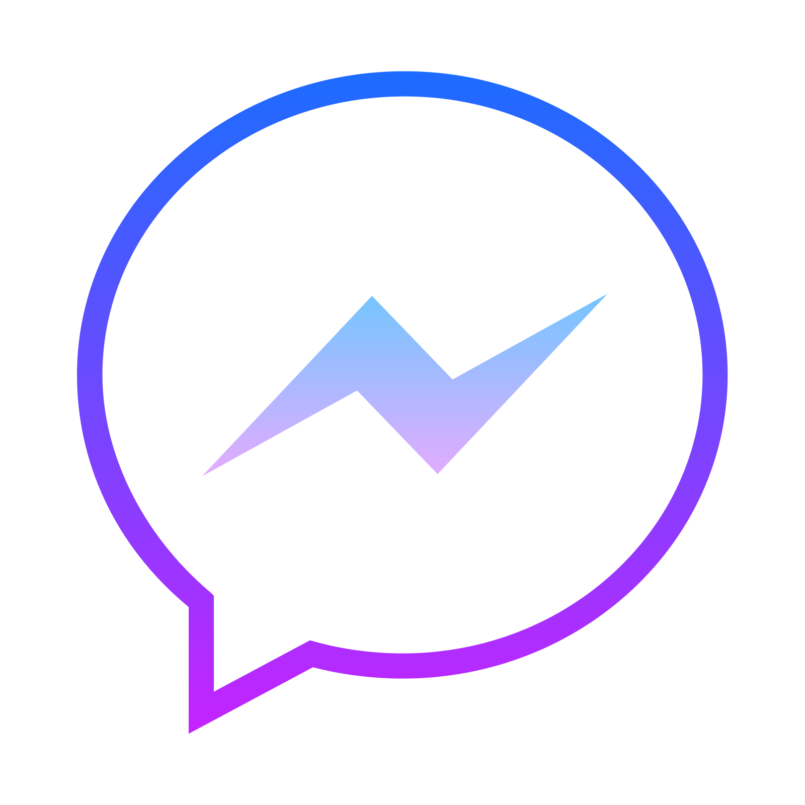 Messenger png transparent images. Facebook clipart psd