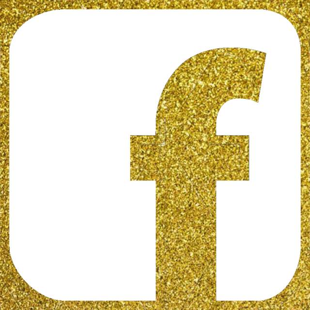 Facebook icon vector color. Glitter clipart gold glitter line