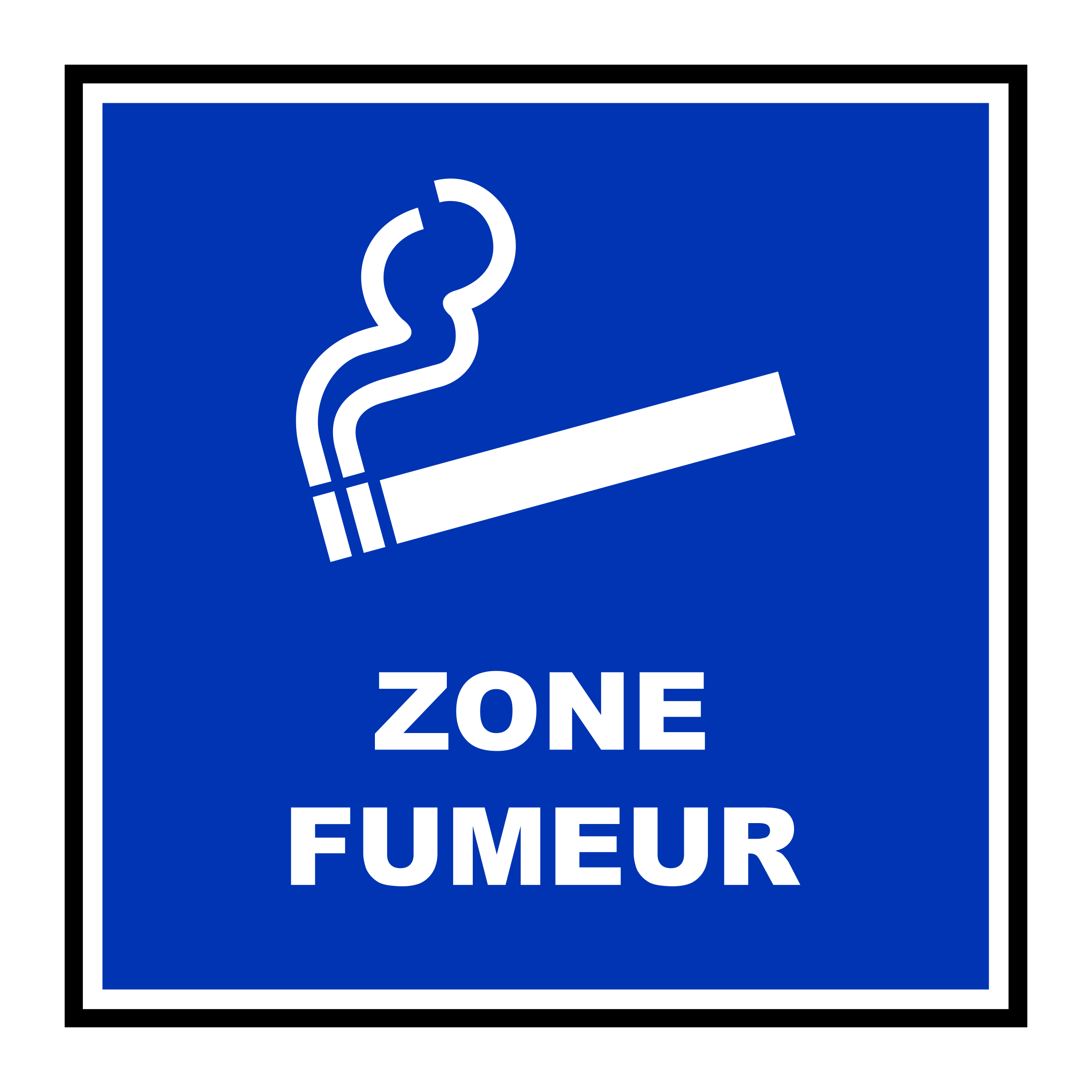 Facebook clipart sign. Zone fumeur big image