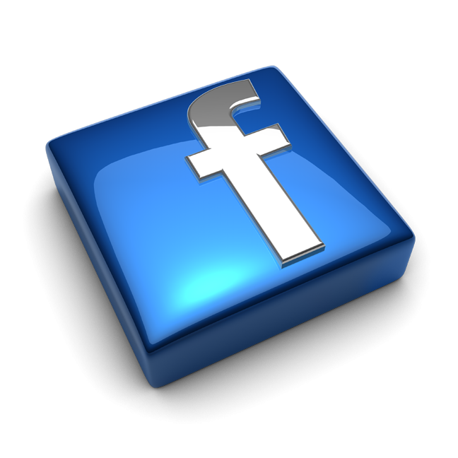 Facebook clipart small size. Logo glass d png