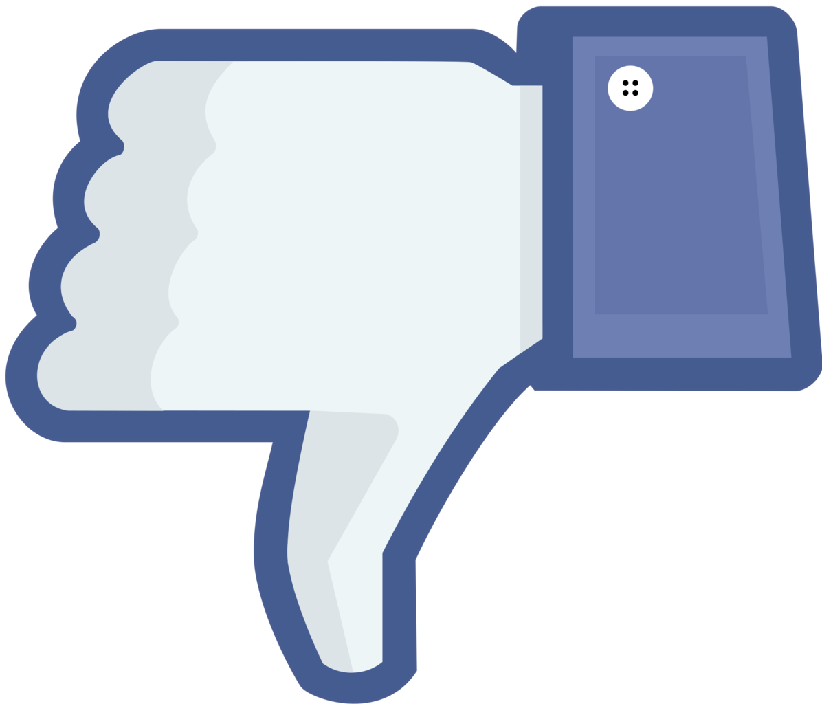 Facebook clipart square. Thumbs down clip art