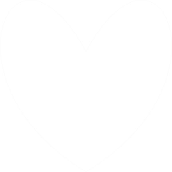White heart clip art. Facebook clipart svg
