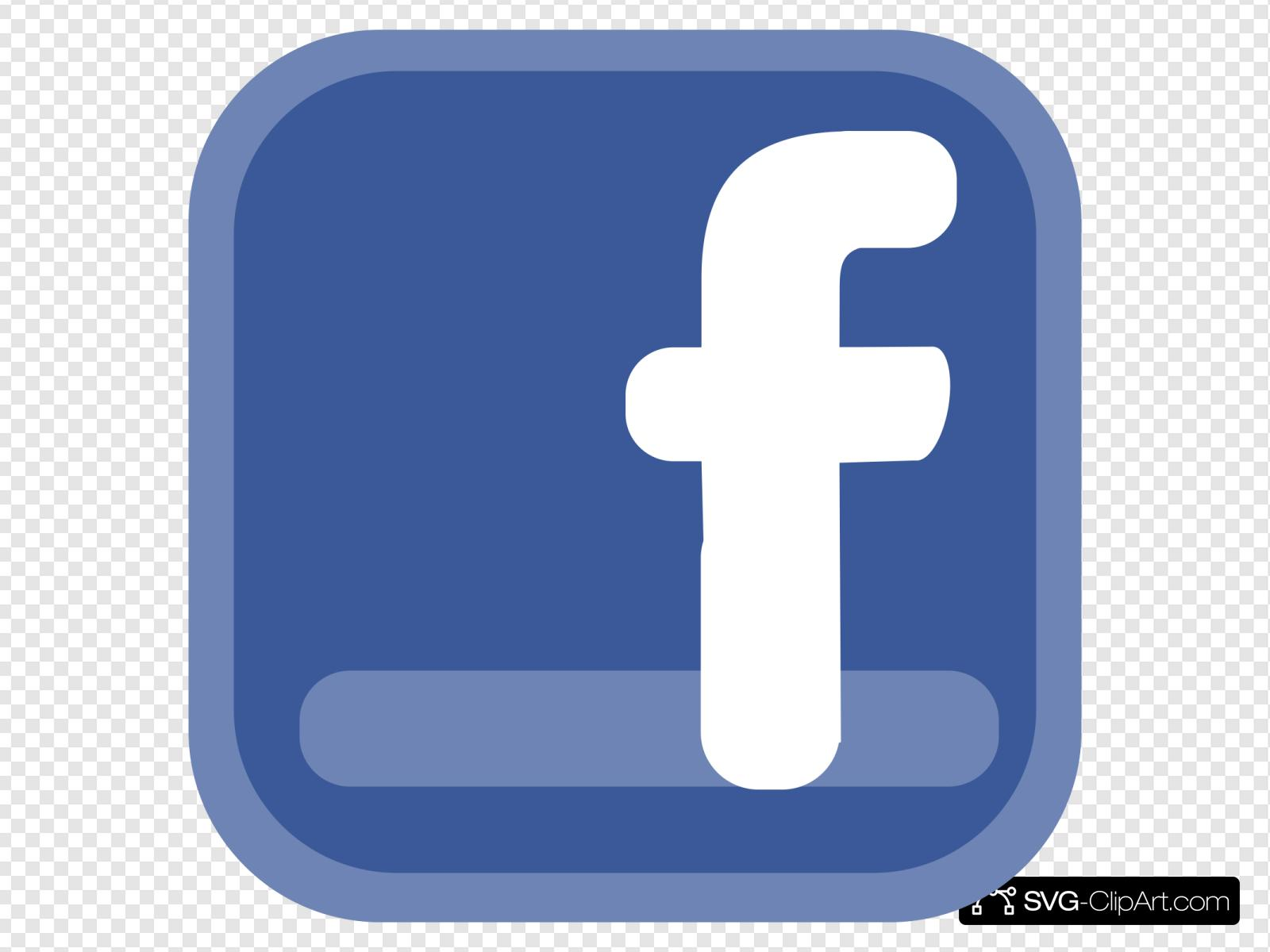 Facebook clipart svg. Icon clip art and