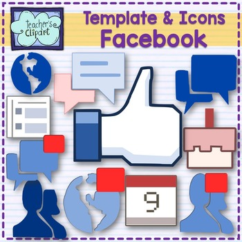 Facebook clipart template. Alike and icons