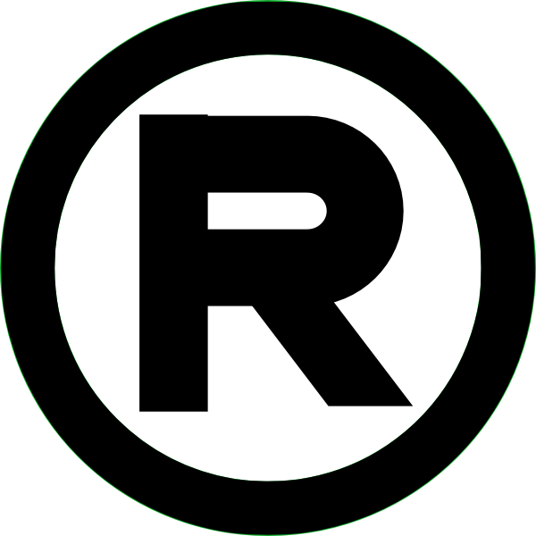 Registered trademark black clip. R clipart potos