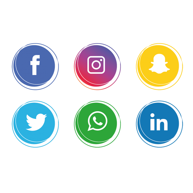 Facebook instagram twitter icons png. Social media icon set