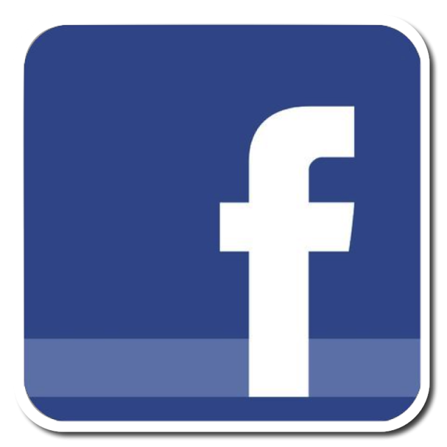 Facebook png icon. Design blue and psd