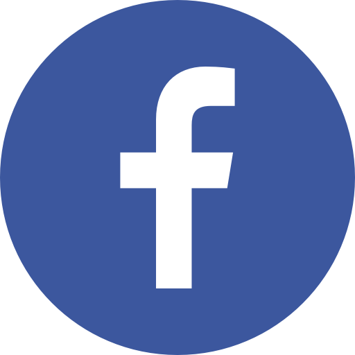 Facebook png icon. Social media networks color