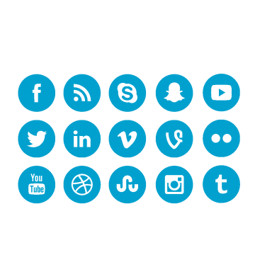 Linkedin icons images vectors. Facebook twitter icon png