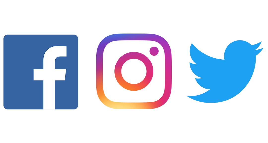 Social media and online. Facebook twitter instagram png