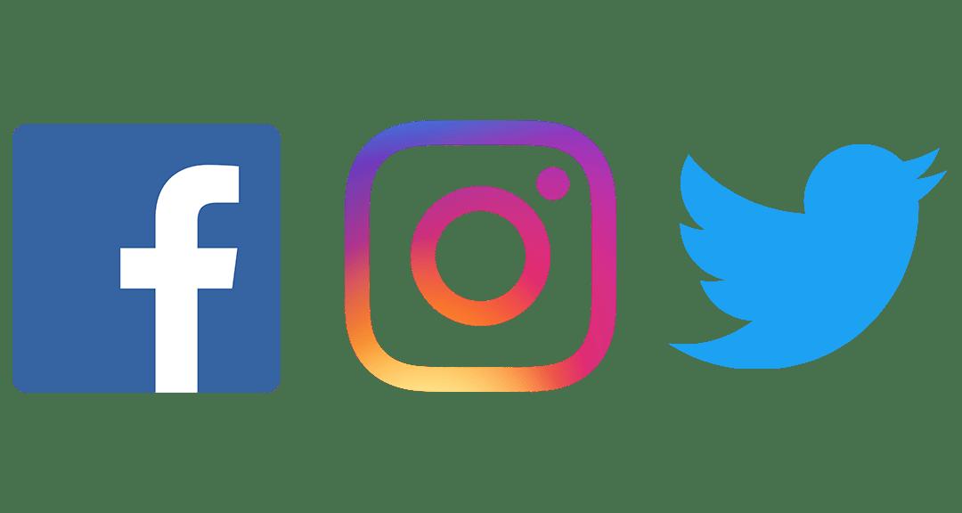 Social media and online. Facebook twitter instagram png