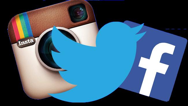 Facebook twitter instagram png. Logos follow us vector