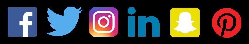 Facebook twitter instagram png. Logos clipart free