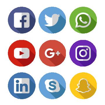 Satisfy social media sphere. Facebook twitter png