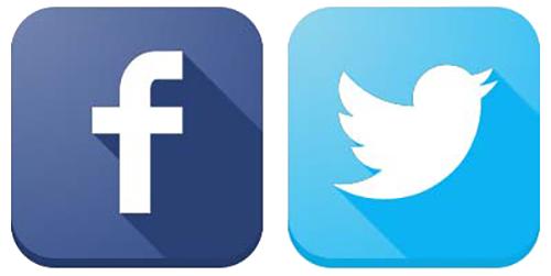 Logo fb dan image. Facebook twitter png