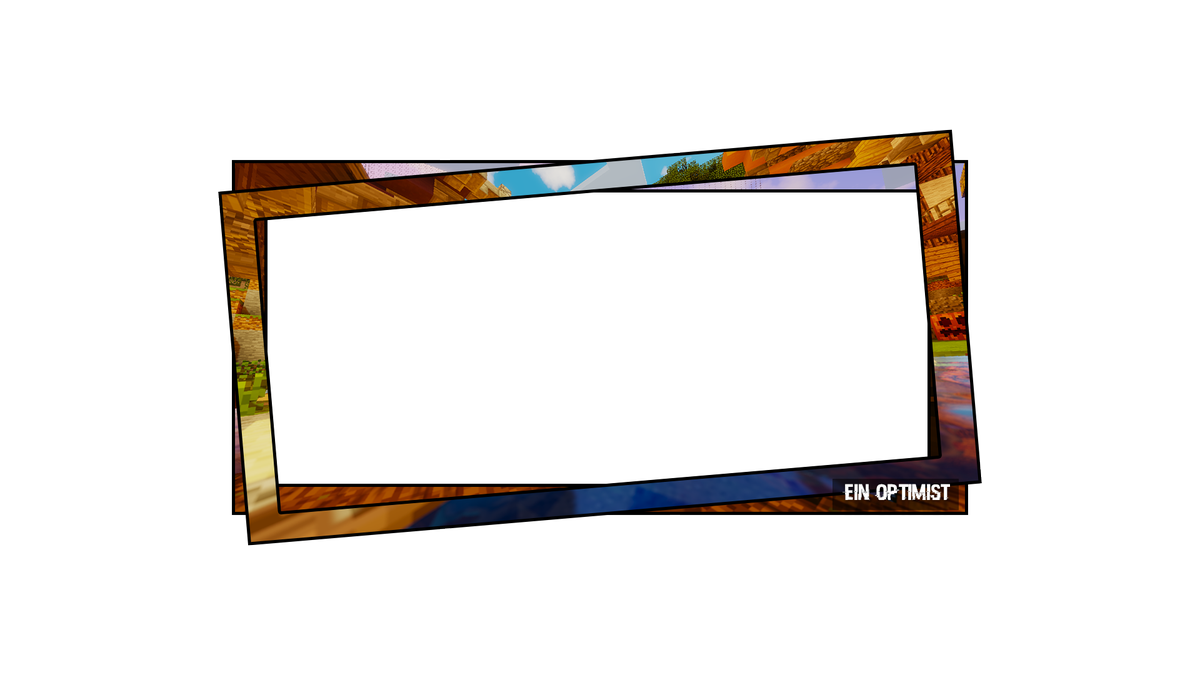 Picture frames rectangle transprent. Facecam border png
