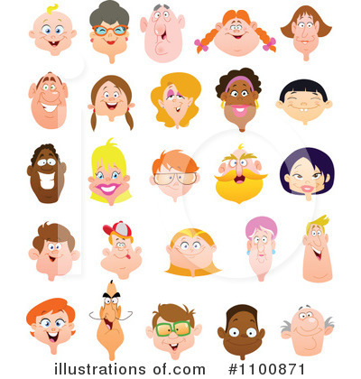 Faces clipart. Illustration by yayayoyo royaltyfree