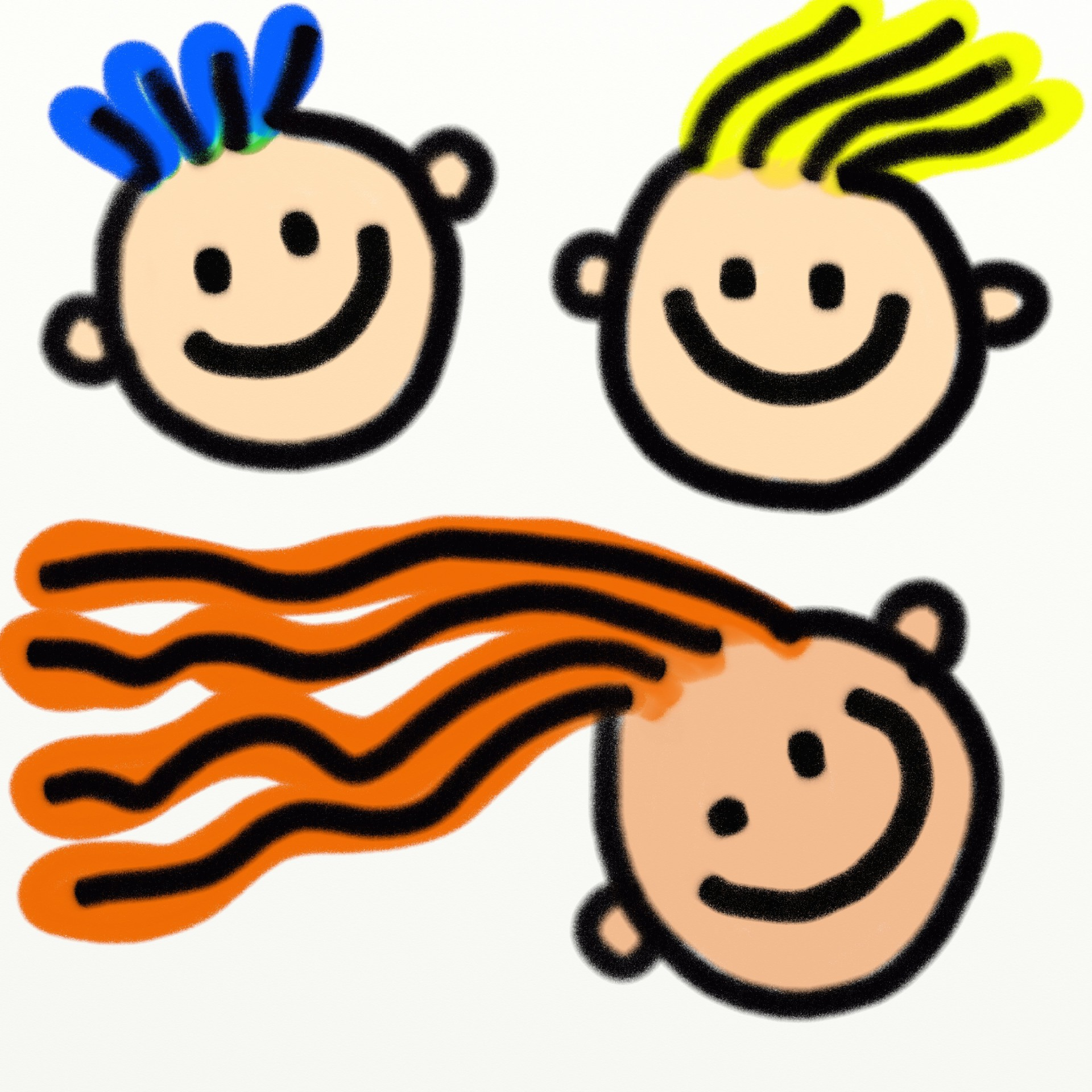 Kids free stock photo. Faces clipart