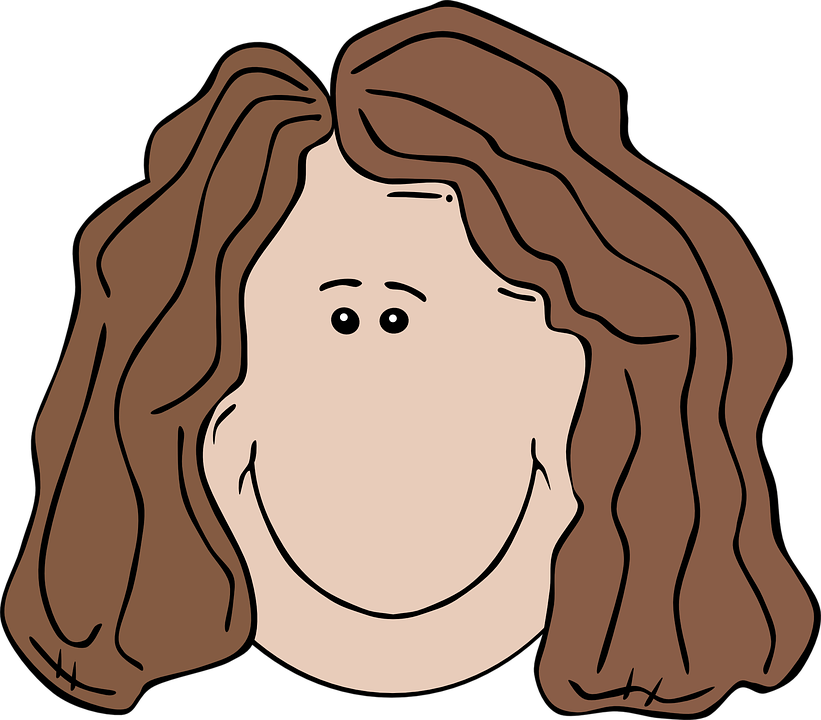 Aunt clipart girl face. Cartoon woman group smiling