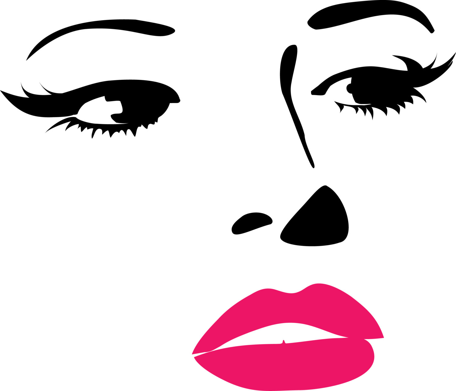 Free female face cliparts. Faces clipart beautiful