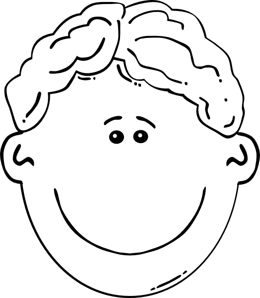 Faces clipart boy face. Baby with curly hair