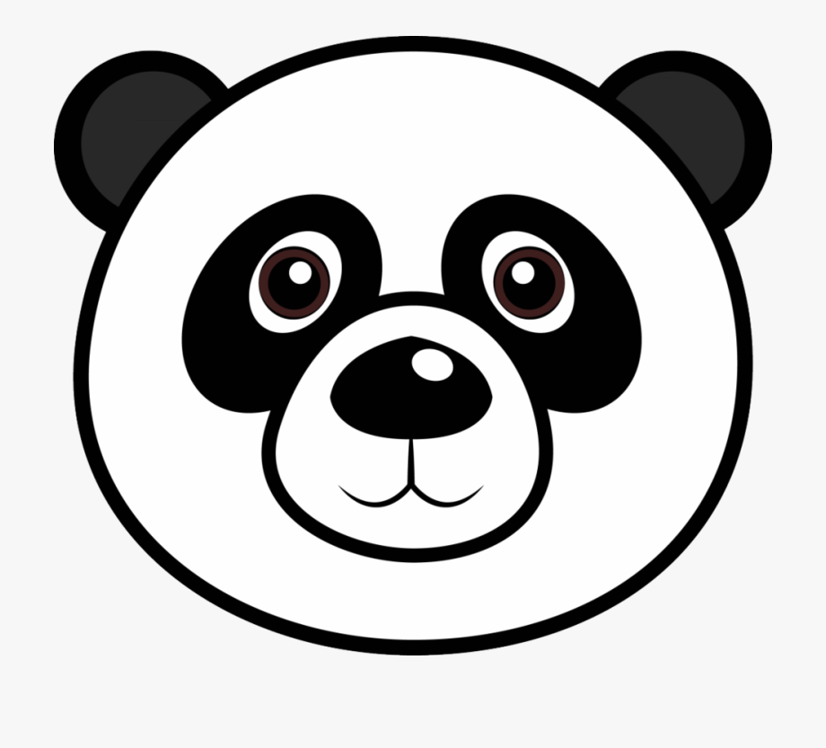 Panda face drawing free. Faces clipart easy