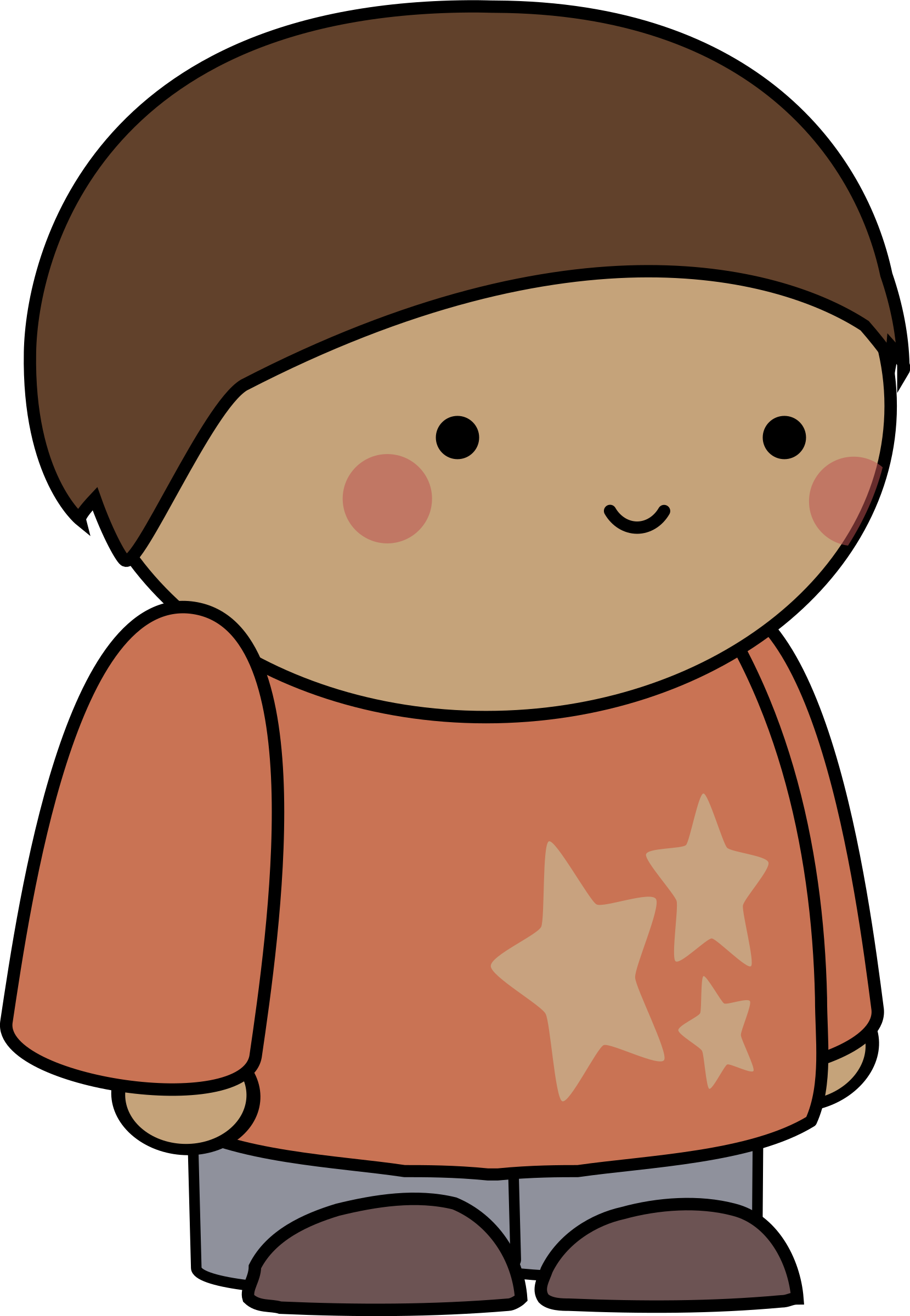 Blushing comic character big. Faces clipart embarrassed
