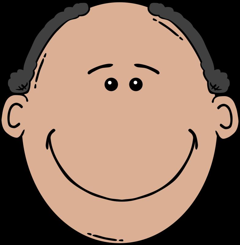Faces clipart face drawing. Man cartoon medium image