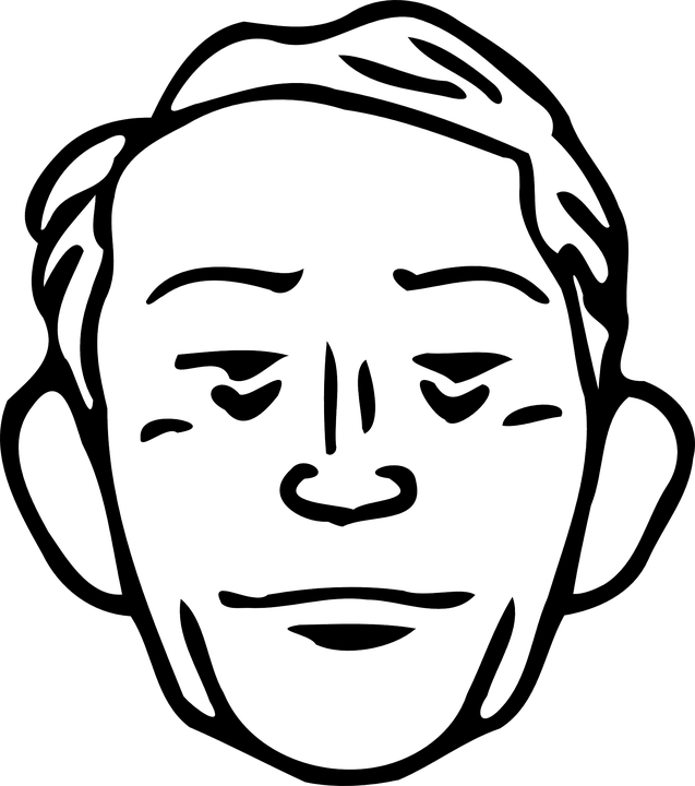 Faces clipart face drawing. Outline of a shop