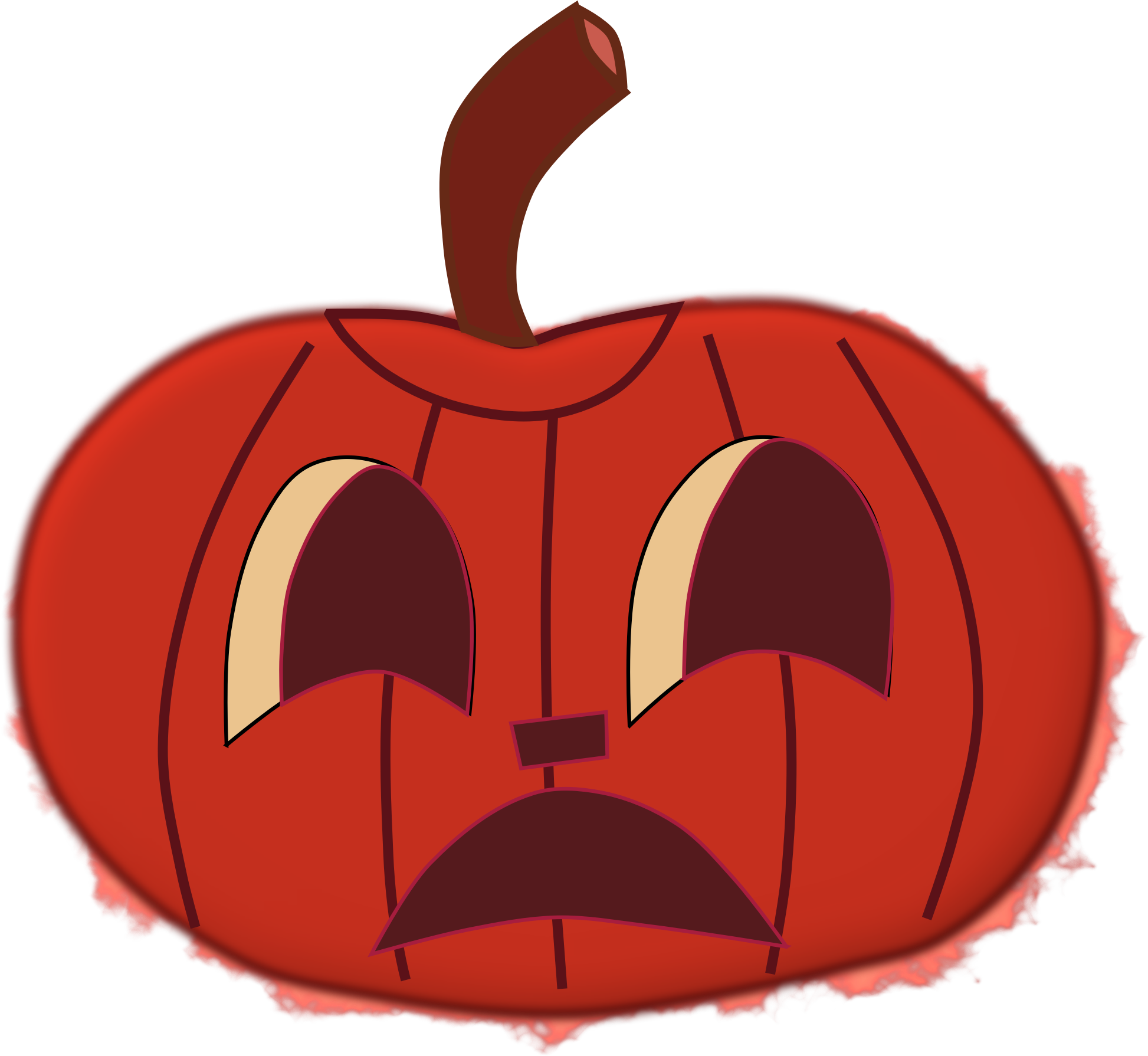 Faces clipart fruit. Halloween for pumpkins orange