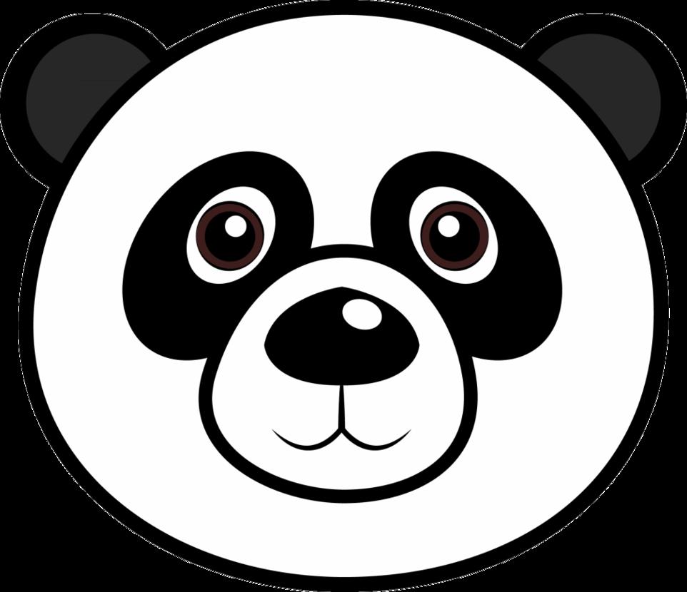 Panda collection face clipground. Faces clipart head