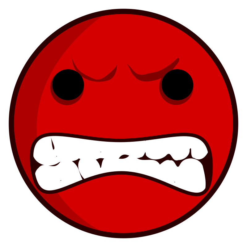 Faces clipart kid faces. Really angry face
