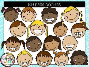 Faces clipart kid faces. Face doodles by the