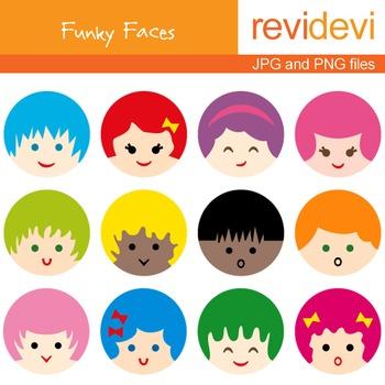Free clip art cute. Faces clipart kid faces