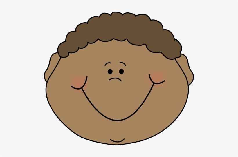 Happy cartoon face clip. Faces clipart little boy