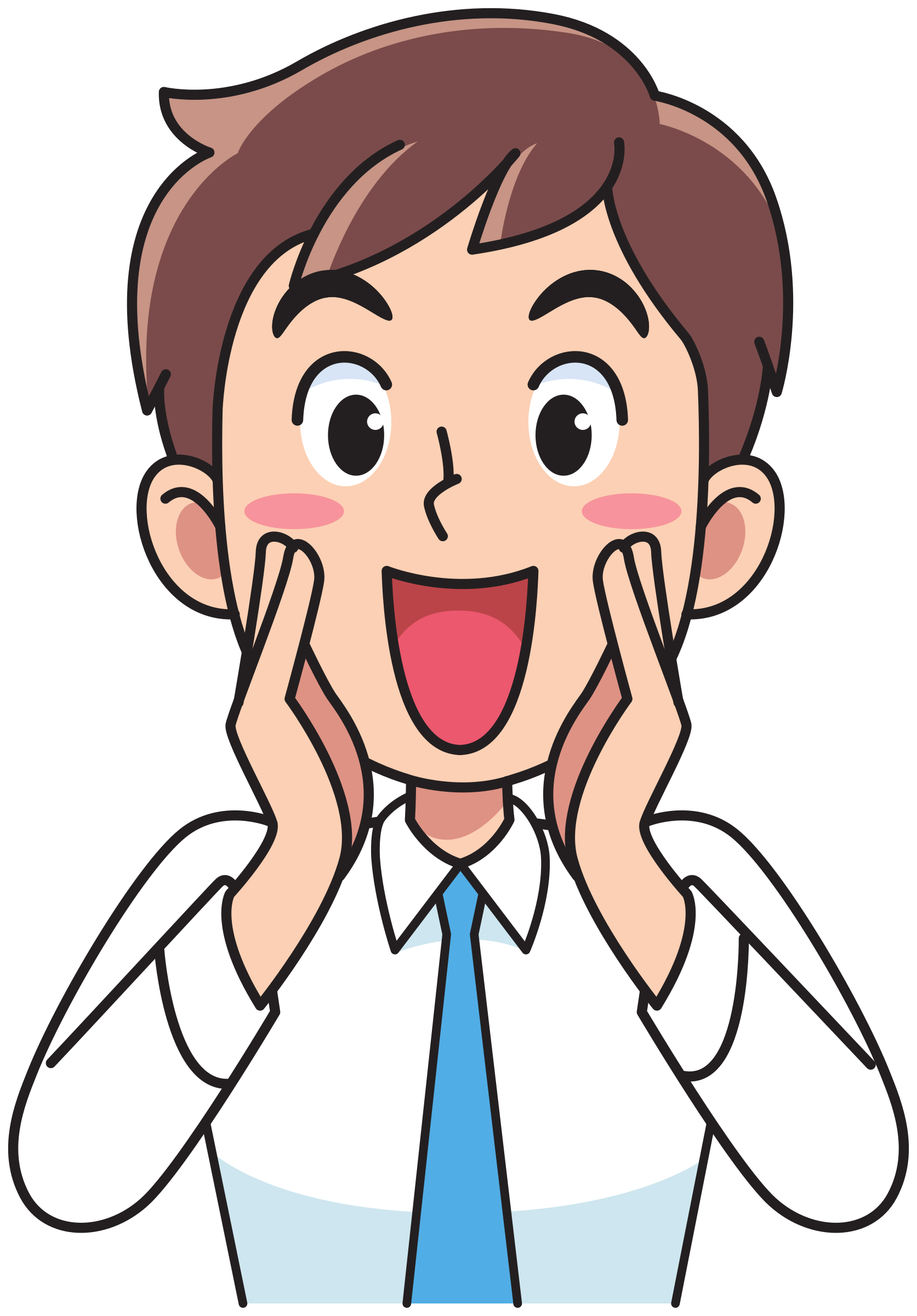 Business man shouting big. Yelling clipart shouted