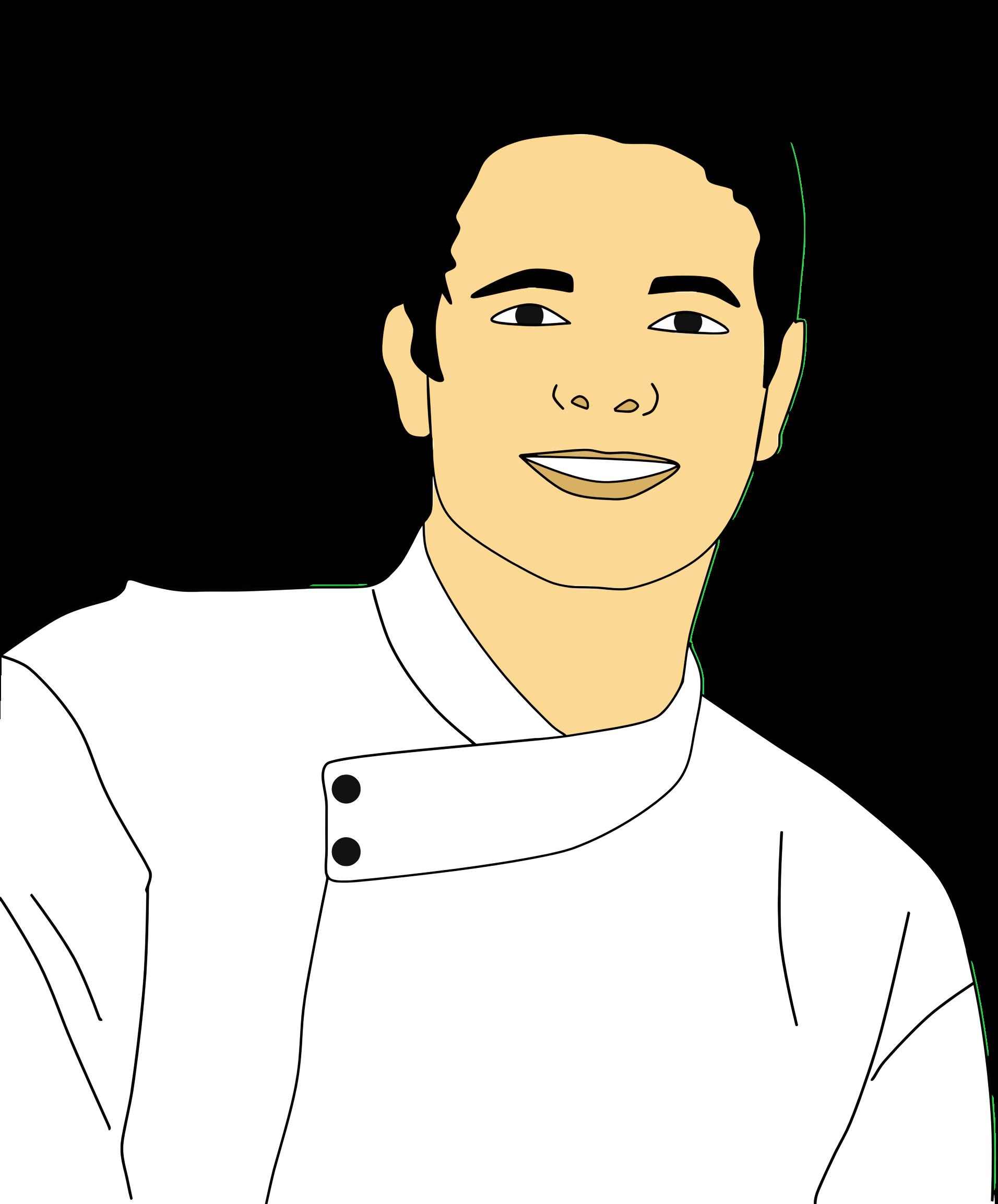 Faces clipart male character. Chef portrait big image