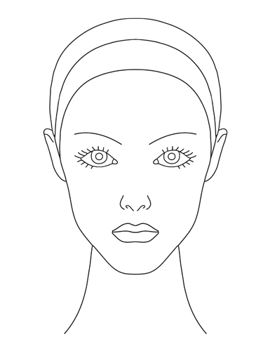 Free face template download. Faces clipart neck