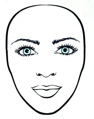 Faces clipart oval face. Inverted triangle shape shapes