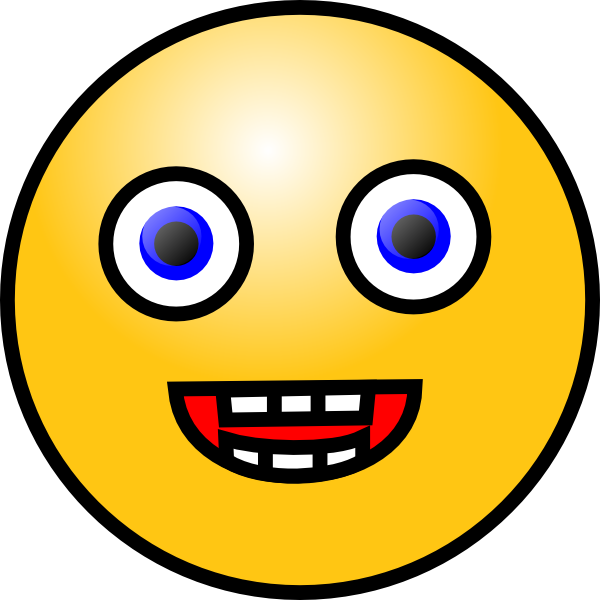 Free crazy smile download. Faces clipart oval face