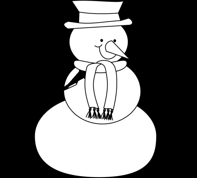 snowman clipart simple