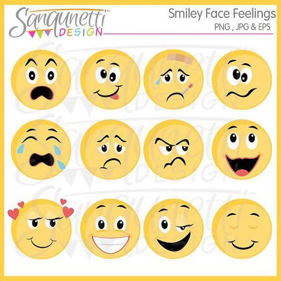 Smiley emoji digital art. Feelings clipart face
