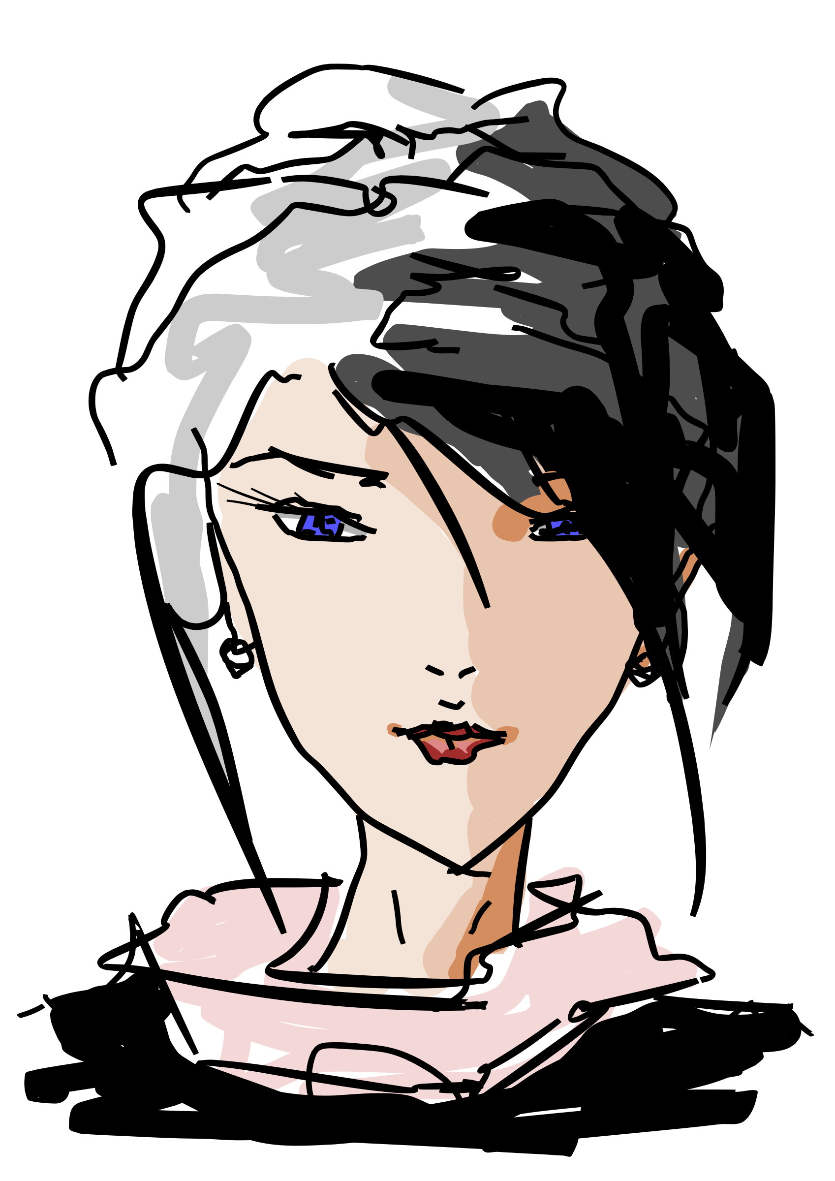 Faces clipart woman's face. Drawn woman s big