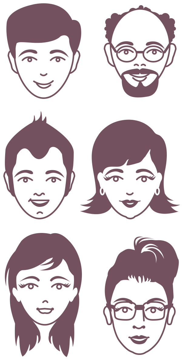 Professional clipart female avatar. Male and vector faces