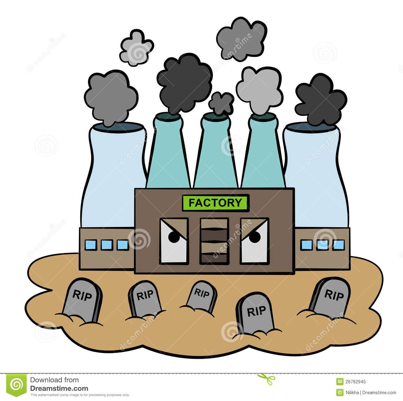 Factories clipart. Factory fumes