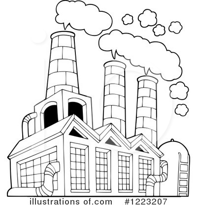 Factory illustration by visekart. Factories clipart
