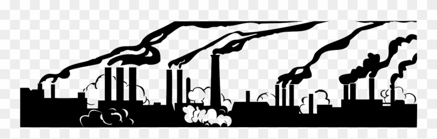 Graphic air pollution black. Factory clipart polluted