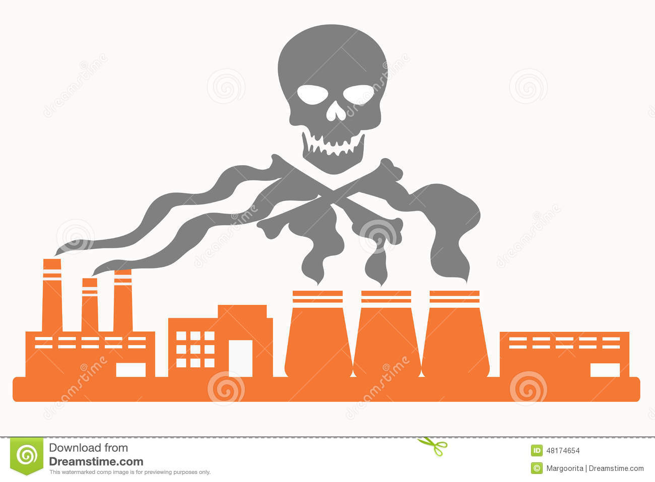 Station . Factory clipart factory air pollution